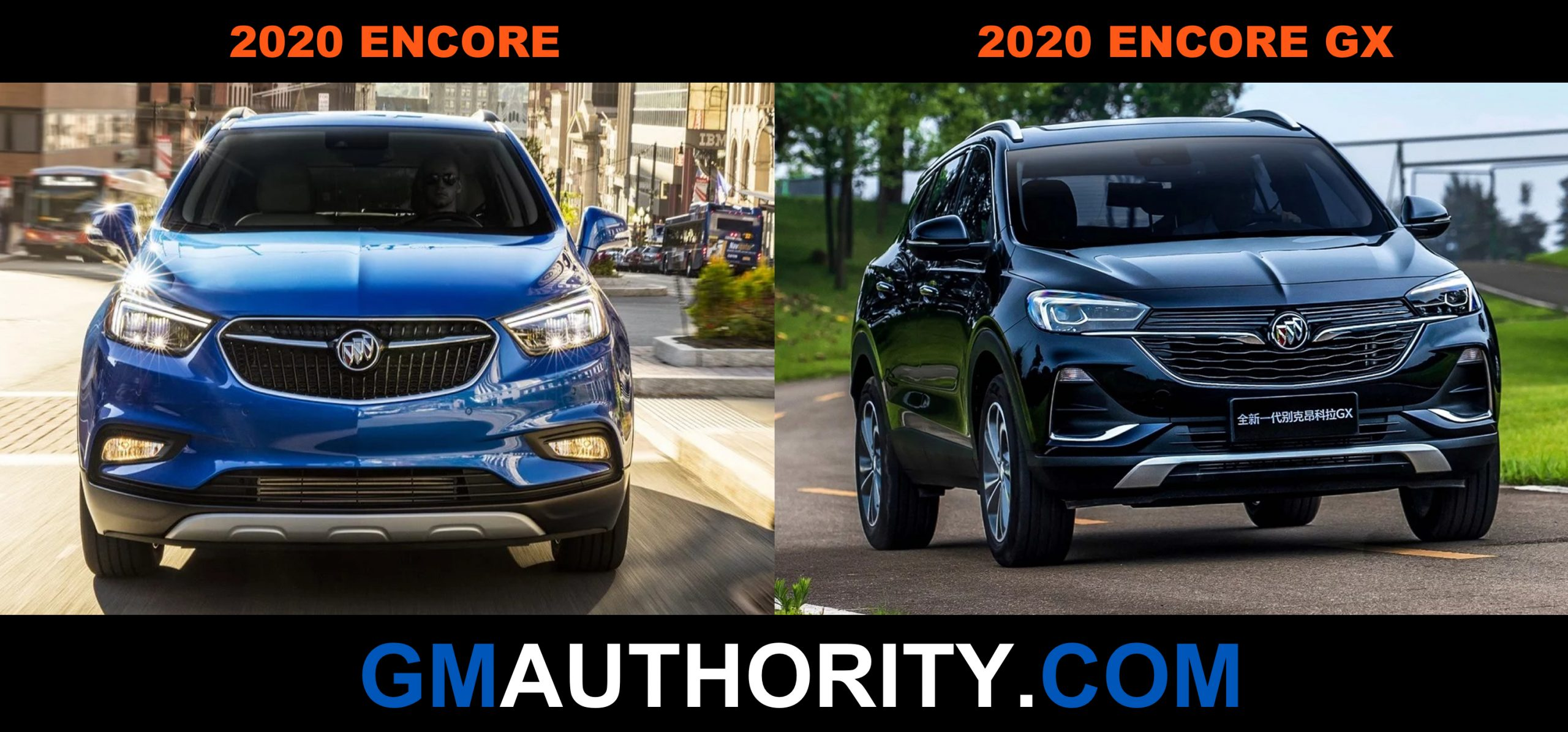 Buick Encore Vs. Buick Encore Gx: Visual Comparison | Gm 2022 Buick Encore Gx Build And Price, Build, Colors